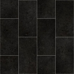 CUSHIONAIR Cushioned Vinyl Flooring - Graphite Offset Tile
