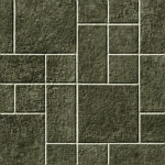 CUSHIONAIR Cushioned Vinyl Flooring - Silver/Grey Multi Tile