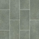 CUSHIONAIR Cushioned Vinyl Flooring - Grey Offset Tile