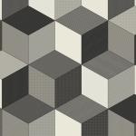 CUSHIONAIR Designer Vinyl Flooring - Dimensions Black & White