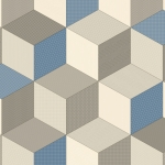 CUSHIONAIR Designer Vinyl Flooring - Dimensions Blue & Grey