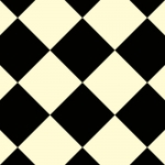 CUSHIONAIR Designer Vinyl Flooring - Harlequin Black & White