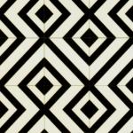 CUSHIONAIR Designer Vinyl Flooring - Kaleidoscope Black & White