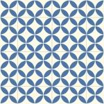 CUSHIONAIR Designer Vinyl Flooring - Portofino Blue & White