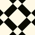 CUSHIONAIR Designer Vinyl Flooring - Tuscany Black & White