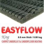 EASYFLOW KING Low Tog Carpet Underlay for underfloor heating