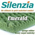 SILENZIA EMERALD Sponge Rubber 10mm Carpet Underlay