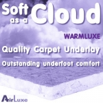 SOFT AS A CLOUD 12mm 'WarmLuxe UHD' Carpet Underlay