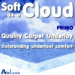 SOFT AS A CLOUD 7mm 'Primo' Carpet Underlay